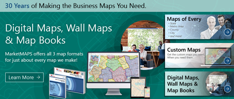 Digital Maps, Wall Maps and Map Books.